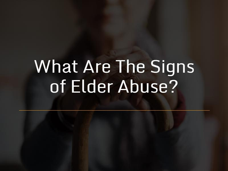signs of elder abuse