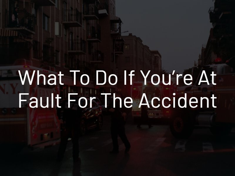 at fault for an accident