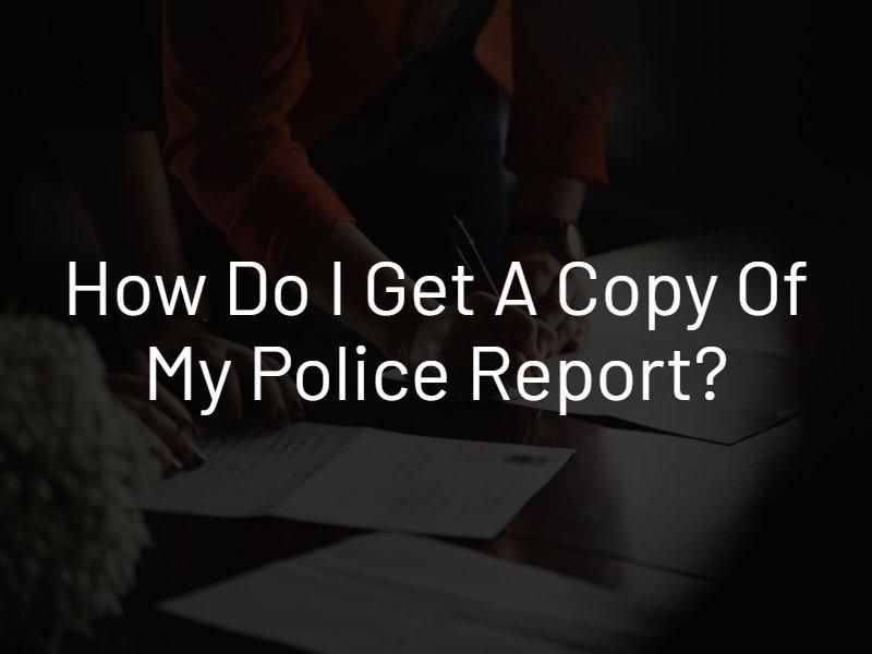 police report copy